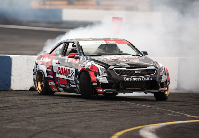 Taylor Hull puts new engine to the test at Evergreen Speedway Formula Drift round 5
